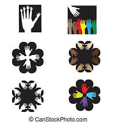 logo, -hands