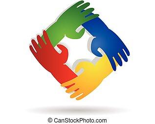 Logo hands teamwork