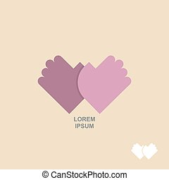 logo hands together. Template for  business concept of Partnership, meeting, greeting