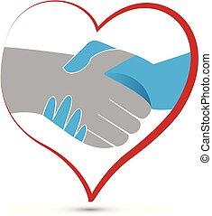 Logo handshake business