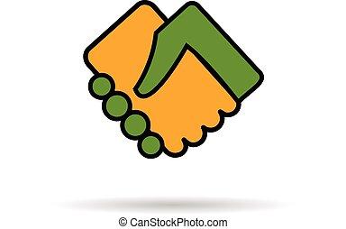 Logo handshake people