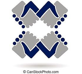 Logo handshake teamwork