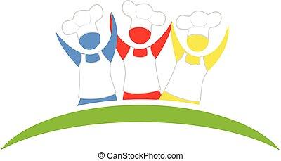 Logo happy chef team