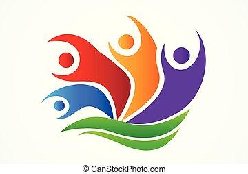 Logo happy teamwork