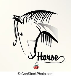 Logo head horse