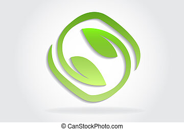 Logo healthy and nature leafs