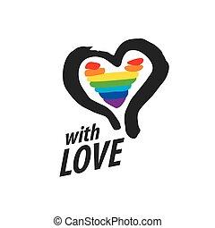 logo heart and rainbow