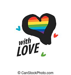 logo heart and rainbow