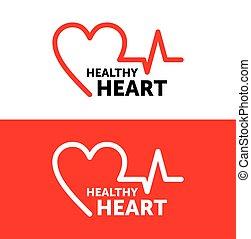 logo Heart. Healthy heart symbol icon. vector illustration. graphic design.