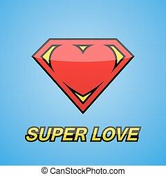 Logo. Heart. Super love.