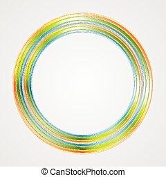 logo, helder, cirkel, achtergrond