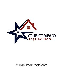 logo home with star