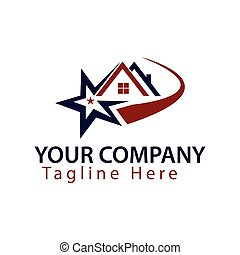 logo home with star on white background