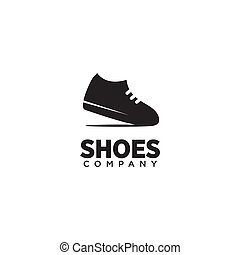 logo, homme, vecteur, conception, chaussures, gabarit