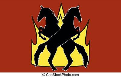 Logo horse silhouette vector illustration