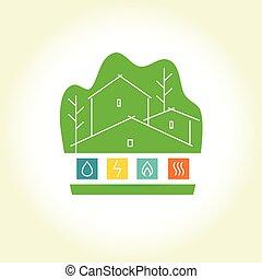 logo, house., eco-amical