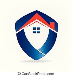 Logo house real estate business id card concept icon