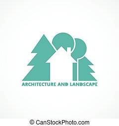 logo house with trees