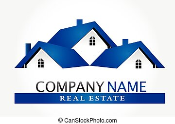 Logo houses real estate