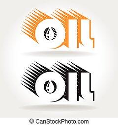 logo, huile, gabarit