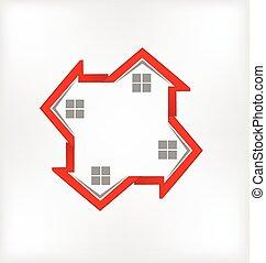 logo, huisen