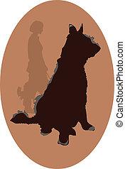 logo, hund