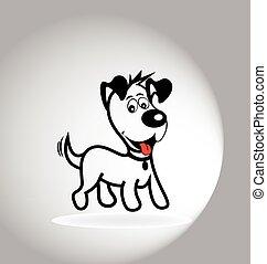 logo, hund, glücklich