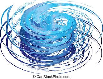 logo, huragan, ikona
