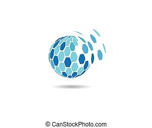 logo, icône, global