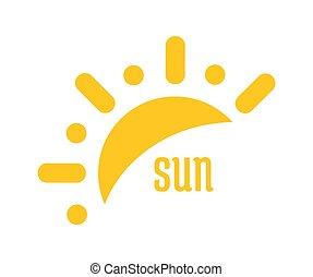 logo, icône, symbole., soleil