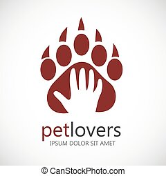Logo icon design template. Abstract concept for pet shop or veterinary.