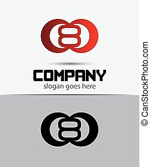 Logo icon design template elements.