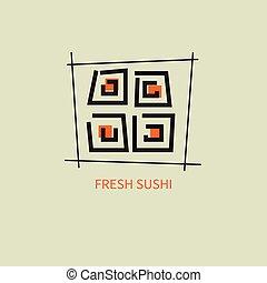 icon fresh sushi