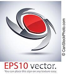 logo, icon., lame, moderne, 3d