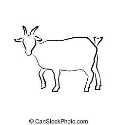 Logo icon of Grazing goat full length