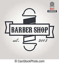 Logo, icon or logotype for barbershop