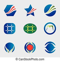 Logo icons set vector
