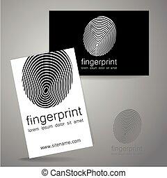 logo, identité, empreinte doigt