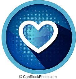 logo, ikona, serce