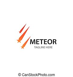 logo, ilustration, météorite