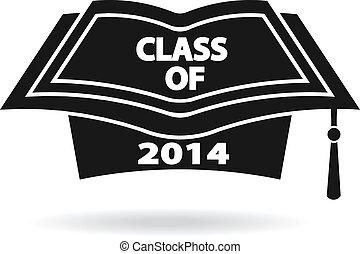 logo, image, casquette, remise de diplomes