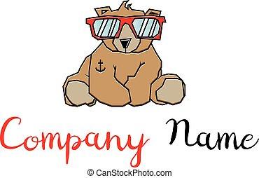 logo, image, vecteur, ours, frais