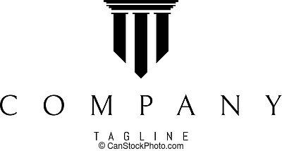 logo, image, vecteur, trois, colonnes