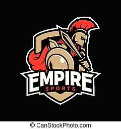 logo, imperium, sport