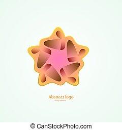 logo, in, der, form, von, a, star., design