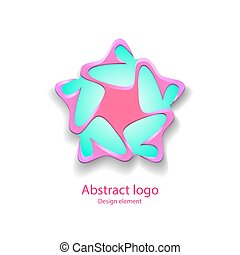 logo, in, der, form, von, a, stern