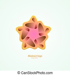 logo in the shape of a star. design