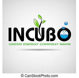logo incubo green energy company design