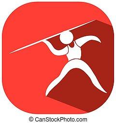logo, javelot, sport, conception