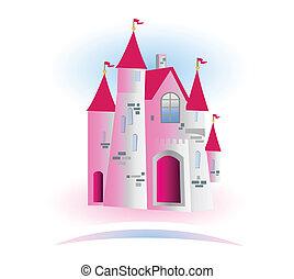 logo, kasteel, prinsesje